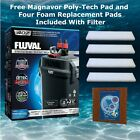 FLUVAL 407 AQUARIUM CANISTER FILTER MEDIA INCLUDED FREE SHIPPING