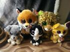 5 Beanie Boo lot with Slick, Speckles, Pablo, Pepper and Scraps 9 in and 6 inch