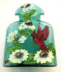 Blenko Glass Water Bottle Limited Edition Cardinal Hand Painted 384