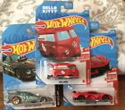 Hot Wheels 2021 Red Edition Kool Kombi  Corvette CBR +Treasure Hunt Mustang FC