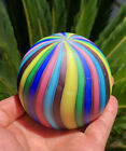 Vintage Murano Swirl Satin Finish Multi Color Glass Paperweight