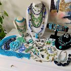 Vintage Now Jewelry Lot Wearable Estate Costume Jewelry 3Lbs 129Oz Junk Drawer