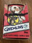 1984 TOPPS GREMLINS Trading Cards Wax Pack Box Only 22 Unopened Sealed Packs