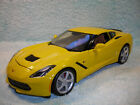 1 18 SCALE DIECAST 2014 CHEVY CORVETTE STINGRAY COUPE IN YELLOW BY MAISTO
