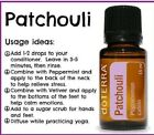 doTERRA Patchouli Essential Oil 15mL CPTG New Authentic Sealed Free Shipping