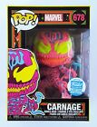 Funko Pop! Marvel #678 Black Light Carnage Funko Shop Exclusive with Hard Stack