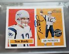 TOM BRADY AUTOGRAPH 2002 TOPPS HERITAGE THE REAL ONES PATRIOTS BLUE INK UNGRADED