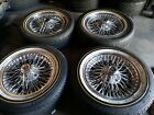 16x7 Fwd Rare real Dayton 72 spoke Wire Wheels With almost New Vouge tyres