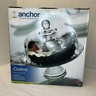Anchor Hocking Clear Glass Cake Stand Set Canton 9 Cake + Punch Bowl NEW