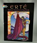 ERTE STAINED GLASS COLORING BOOK 2007 1st Edition SCARCE Dover NEAR FINE