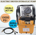 Electric Driven Hydraulic Pump 750W Double Acting 7L Pedal Solenoid Valve 110V
