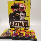 1989 Topps Batman Movie Cards Series 1 Box w Lot of 5 Unopened Packs