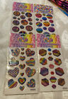 Lisa Frank Hearts Smiley Lips Peace Hearts Signs Puffy Glitter Stickers