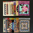 15 Issues Foundation Piecer Magazine Quilting Paper Piecing Patterns