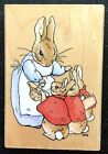 Vintage Rubber Stamp Mom Sends Bunnies Off To School Beatrice Potter 4 1 2 x 3