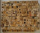 RUBBER STAMPS Lot of 50+ wood mounted VTG Dots Fun StampsStampin up 80s  90s