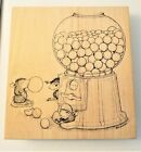 House Mouse Designs Rubber Stamp Wood Mt Gumball Rally 227 Machine Gum Mice VTG