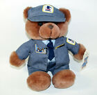 1990 Theadco Plush Tony Teddy Bear US Mail Letter Carrier USPS Stamp Lapel Pin