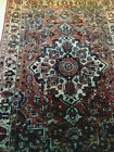 Vintage Hand knotted Over dyed Turkish Rug 100 Wool 10 x 7 Brown Teal Navy