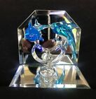 HAND SPUN BLOWN GLASS BLUE DOLPHINS WITH REFLECTIVE MIRRORS VERY BEAUTIFUL