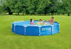 Intex 12 x 30 Metal Frame Round Above Ground Swimming Pool WITH PUMP NEW