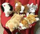RARE HTF TY-5 Beanie DOGS-POOFIE-MUKLUK-FETCH-REGAL-SAMPSON-Brand New & MWMT