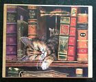 Vintage Rubber Stamp Kitty Loves to Read by Stamps Happen 4 1 2 x 5 1 2