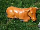 Vintage 18 Blow Mold Nativity Lighted Cow Christmas Decoration