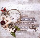 TODAY Stamperia  Prima Floral Mixed Media 12x12 Premade Scrapbook Layout Page