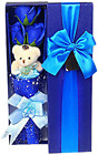 Abbie Home Flower Bouquet 3 Scented Soap Roses Gift Box with Cute Teddy Bear Bir