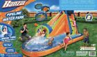New BANZAI Pipeline Inflatable Water Park Slide Play Pool Wall Climb  Blower