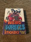Vintage 1980 Topps Weird Wheels Stickers Sealed Box of 36 Wax Packs