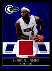 2010-11 TOTALLY CERTIFIED LEBRON JAMES BLUE MIAMI HEAT GAME USED JERSEY #40 99!
