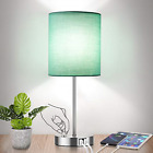 Fully Dimmable Table Lamp with USB Ports 60W Equvi 5000K Daylight Edison Bulb AC