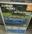 Summer Waves 15 ft x 33 in Active Metal Frame Swimming Pool with Filter Pump