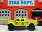 MATCHBOX FIRE FORD F 350 SAR SEARCH AND RESCUE NEON YELLOW CUSTOM UNIT