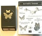 Stampin Up BUTTERFLY WISHES STAMP SET with Butterfly Duet Punch  EUC
