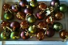 Christmas ornaments Large Glass Ball Ornaments Lot of 27
