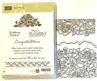 Stampin Up Floral Phrases Stamp Set  Coordinating Detailed Floral Thinlits