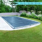 Pool Cover In Ground Winter Block Easy Installation Heavy Duty 16x32 18x36 20x40
