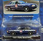 Greenlight 91 1991 Ford Mustang Hot Pursuit Wisconsin State Patrol Police Car