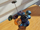 Northwood Grape  Cable Carnival Glass Hatpin Holder  10 Hatpins