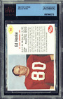 1962 Post Cereal #156 Ed Henke BVG BGS Authentic PSA Football Card in Case