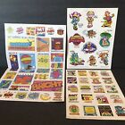 Vtg 1985 Robot Up Up Away Stickers Troll Associates Reading Book Club 80s Sheets