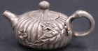 Collectible Old tibet Silver Statue leaf fine Big HANDWORK rare chinese Teapot