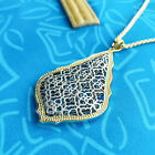 Kendra Scott Aiden Gold long necklace silver filigree Free Shipping