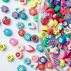 200pcs Mixed Fruit Spacer Beads Smiley Face Beads Color Polymer Clay Beads fo