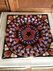Peggy Karr Fused Glass Trick or Treat 10 Square Halloween Plate Tray Signed