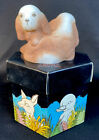 Fenton Art Glass Double Spaniels Dog Part Of Natural Series For 1985