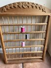 Vintage Wooden Spool Thread Sewing Wall Rack Seamstress Tailor Goals